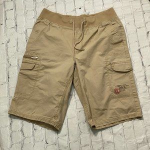 Ecko Unltd Men's Drawstring Khaki Cargo Shorts